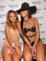 LAS VEGAS, NV - May 25: Karrueche Tran and Cassie at Memorial Day Weekend at Rehab at the Hard Rock Hotel on May 25, 2014 in Las Vegas, Nevada. © GDP Photos/ Starlitepics