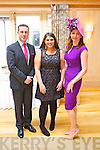 "Pictured at the launch of the ""Hats and Heels"" fundraiser for the Crean family whos house burned down before Christmas, were from left: Padraig McGillycuddy, Mary McQuinn and Milliner Carol Kennelly"