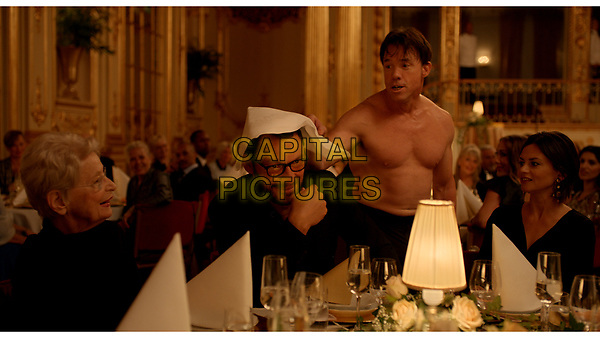 The Square (2017) <br /> Dominic West and Terry Notary<br /> *Filmstill - Editorial Use Only*<br /> CAP/KFS<br /> Image supplied by Capital Pictures