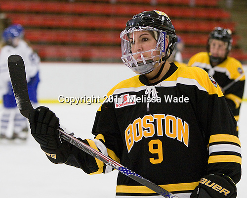 Hayley Moore (Boston - 9) - The Boston Blades defeated the visiting Toronto Hockey Club 4-2 on Sunday, February 6, 2011, at Bright Hockey Center in Cambridge, Massachusetts.