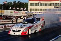 May 4, 2012; Commerce, GA, USA: NHRA funny car driver Cruz Pedregon during qualifying for the Southern Nationals at Atlanta Dragway. Mandatory Credit: Mark J. Rebilas-