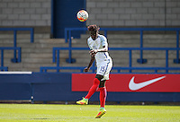 Trevoh Chalobah (Chelsea) of England U19 clears the ball during the International match between England U19 and Netherlands U19 at New Bucks Head, Telford, England on 1 September 2016. Photo by Andy Rowland.