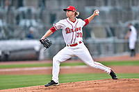 Southern Division pitcher Boyd Logan (39) of the Greenville Drive delivers a pitch during the South Atlantic League All Star Game at Spirit Communications Park on June 20, 2017 in Columbia, South Carolina. The game ended in a tie 3-3 after seven innings. (Tony Farlow/Four Seam Images)
