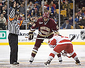Brian Boyle, Brad Zancanaro - The Boston University Terriers defeated the Boston College Eagles 2-1 in overtime in the March 18, 2006 Hockey East Final at the TD Banknorth Garden in Boston, MA.