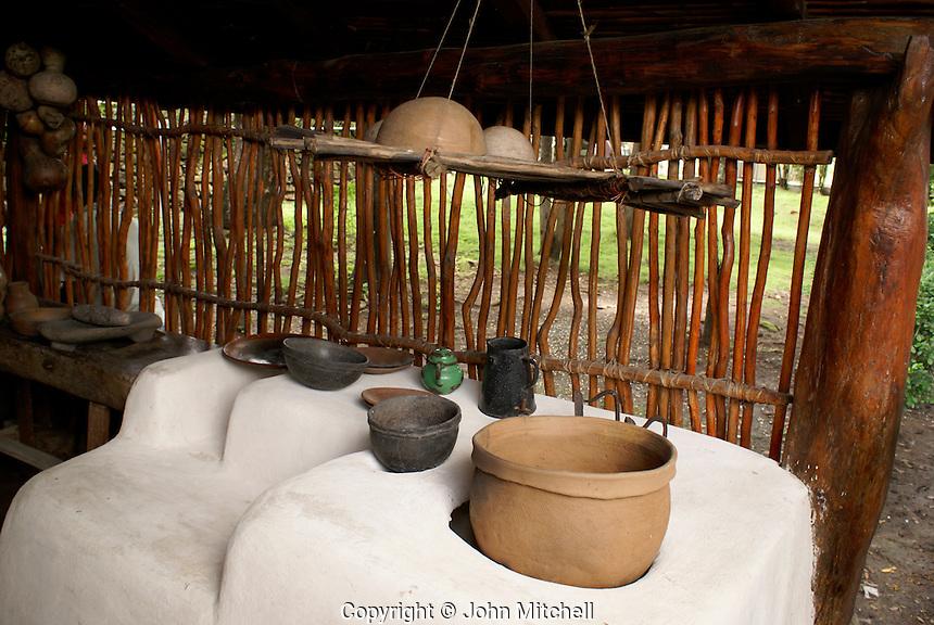 Kitchen in the Casa Natal Ruben Dario, the house where Nicaraguan poet Ruben Dario was born, Ciudad Dario, Nicaragua