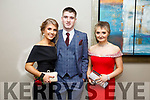 Enjoying the Castleisland Debs at Ballyroe Hotel on Friday were Heather Jones, Sean Hoare and Sinead McSweeney