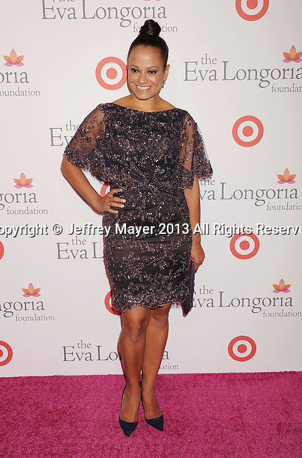 HOLLYWOOD, CA- SEPTEMBER 28: Actress Judy Reyes arrives at the Eva Longoria Foundation Dinner at Beso restaurant on September 28, 2013 in Hollywood, California.