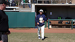 CARY, NC - MARCH 05: Notre Dame head coach Mik Aoki. The Monmouth University Hawks played the University of Notre Dame Fighting Irish on March 5, 2017, at USA Baseball NTC Field 2 in Cary, NC in a Division I College Baseball game, and part of the Irish Classic tournament. Notre Dame won the game 4-0.