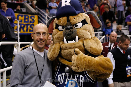 Trent Nelson  |  The Salt Lake Tribune.Salt Lake City - Butler vs. Kansas State, NCAA West Regional (Final Eight), Saturday, March 27, 2010. mike lewis with mascot