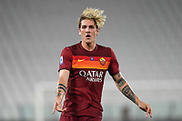 Nicolo Zaniolo of Roma during the Serie A football match between Juventus FC and AS Roma at Juventus stadium in Turin (Italy), August 1st, 2020. Play resumes behind closed doors following the outbreak of the coronavirus disease. Photo Andrea Staccioli / Insidefoto