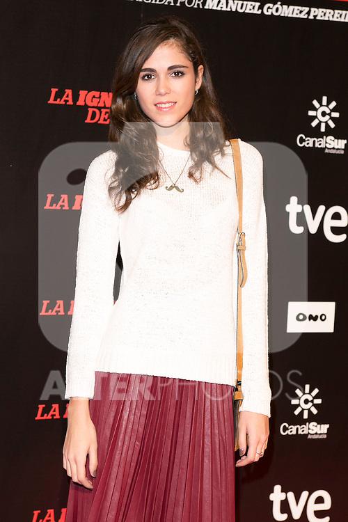 "Sandra Martin attends ""La Ignorancia de la Sangre"" Premiere at Capitol Cinema in Madrid, Spain. November 13, 2014. (ALTERPHOTOS/Carlos Dafonte)"