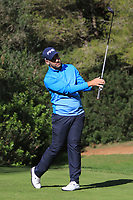 Oliver Farr (WAL) on the 5th tee during Round 3 of the Challenge Tour Grand Final 2019 at Club de Golf Alcanada, Port d'Alcúdia, Mallorca, Spain on Saturday 9th November 2019.<br /> Picture:  Thos Caffrey / Golffile<br /> <br /> All photo usage must carry mandatory copyright credit (© Golffile | Thos Caffrey)