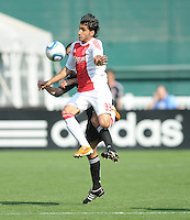 AFC Ajax forward Aras Ozbiliz (33) jumps to shield the ball.   AFC Ajax defeated DC United 2-1 during an International Friendly at RFK Stadium Sunday May 22, 2011.