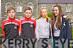 Currow Team Danny Hickey, Adam O'Donoghue, Hannah O'Connor and Aoife O'Sullivan pictured at the Youth Clubs quiz at the KDYS in Killarney on Sunday.