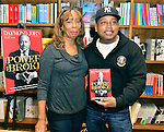 CORAL GABLES, FL - JANUARY 31: Daymond John (R) and his mother Margot John (L) greets fans and signs copies of his book 'The Power of Broke: How Empty Pockets, a Tight Budget, and a Hunger for Success Can Become Your Greatest Competitive Advantage at Books and Books on January 31, 2016 in Coral Gables, Florida.   ( Photo by Johnny Louis / jlnphotography.com )