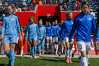 Bridgeview, IL - Saturday April 22, 2017: Starting XI during a regular season National Women's Soccer League (NWSL) match between the Chicago Red Stars and FC Kansas City at Toyota Park.