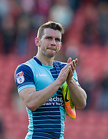 Matt Bloomfield of Wycombe Wanderers after the Sky Bet League 2 match between Leyton Orient and Wycombe Wanderers at the Matchroom Stadium, London, England on 1 April 2017. Photo by Andy Rowland.