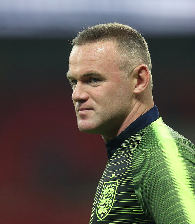 England's Wayne Rooney during the warm-up<br /> <br /> Photographer Rob Newell/CameraSport<br /> <br /> The Wayne Rooney Foundation International - England v United States - Thursday 15th November 2018 - Wembley Stadium - London<br /> <br /> World Copyright © 2018 CameraSport. All rights reserved. 43 Linden Ave. Countesthorpe. Leicester. England. LE8 5PG - Tel: +44 (0) 116 277 4147 - admin@camerasport.com - www.camerasport.com
