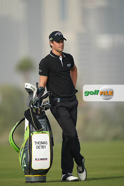 Thomas Detry (BEL) during the second round of the Omega Dubai Desert Classic, Emirates Golf Club, Dubai, UAE. 25/01/2019<br /> Picture: Golffile | Phil Inglis<br /> <br /> <br /> All photo usage must carry mandatory copyright credit (© Golffile | Phil Inglis)