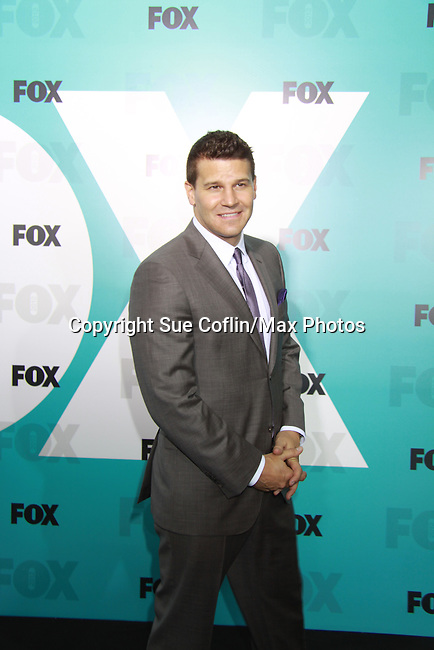 """Bones' David Boreanaz """"FBI Special Agent Seeley Booth"""" at The Fox 2012 Programming Presentation on May 14, 2012 at Wollman Rink, Central Park, New York City, New York. (Photo by Sue Coflin/Max Photos) 917-647-8403"""