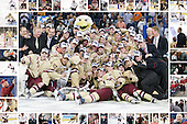 "2012 National Champion Boston College Eagles - ""frame"" includes images of every player, coach, student manager as well as Bert Lenz, John Hegarty, Tom Peters and Tim Clark."
