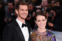 Andrew Garfield &amp; Claire Foy at the premiere for &quot;Breathe&quot;, part of the BFI London Film Festival, at the Odeon Leicester Square, London, UK. <br /> 04 October  2017<br /> Picture: Steve Vas/Featureflash/SilverHub 0208 004 5359 sales@silverhubmedia.com