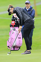 Brittany Lang (USA) putts on the 7th green during Wednesday's Pro-Am Day of The Evian Championship 2017, the final Major of the ladies season, held at Evian Resort Golf Club, Evian-les-Bains, France. 13th September 2017.<br /> Picture: Eoin Clarke | Golffile<br /> <br /> <br /> All photos usage must carry mandatory copyright credit (&copy; Golffile | Eoin Clarke)