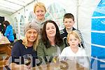 Marie Carroll, Aine Smith and Hayley O'Flaherty with, back, Jamie O'Flaherty and David Smith, from Annascaul, enjoying the Annascaul BeerFest on Saturday afternoon.