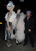 06 April 2019 - New York, New York - Suzanne Bartsch (center) and guests arriving for the Wedding Reception of Marc Jacobs and Char Defrancesco, held at The Pool. Photo Credit: LJ Fotos/AdMedia