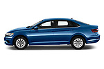 Car driver side profile view of a 2019 Volkswagen Jetta S 4 Door Sedan