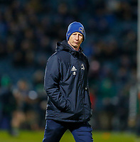 4th January 2020; RDS Arena, Dublin, Leinster, Ireland; Guinness Pro 14 Rugby, Leinster versus Connacht; Leo Cullen Leinster head coach watches his team warm up prior to kickoff - Editorial Use