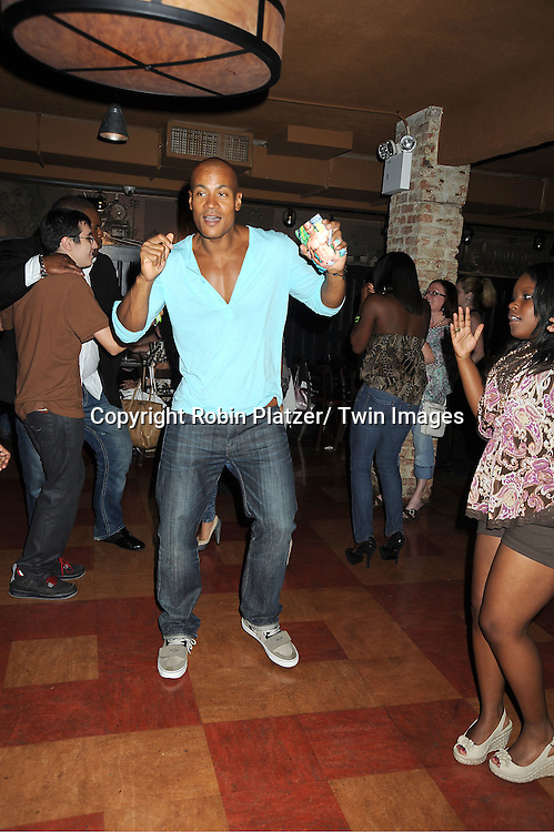 Max Tapper and Shenell Edmonds attending the Shenell Edmonds Fan Club Dance Party on ..August 14, 2011 at HB Burger's Sunken Bar in New York City. Shenell plays Destiny Evans on One Life to Live.