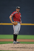 Altoona Curve pitcher Zack Dobson (18) during game against the Trenton Thunder at ARM & HAMMER Park on August 6, 2014 in Trenton, NJ.  Trenton defeated Altoona 7-3.  (Tomasso DeRosa/Four Seam Images)