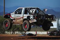 Apr 16, 2011; Surprise, AZ USA; LOORRS driver Jeffrey Kargola (2) during round 3 at Speedworld Off Road Park. Mandatory Credit: Mark J. Rebilas-
