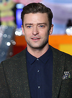 Justin Timberlake at the Trolls 3D Light up The London Eye to promote the release of the new animated film. London Eye, Jubilee Gardens, London on September 29th 2016<br /> CAP/ROS<br /> &copy;Steve Ross/Capital Pictures /MediaPunch ***NORTH AND SOUTH AMERICAS ONLY***