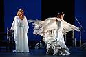 London, UK. 28.02.2016. Sadler's Wells presents Esperanza Fernandez in DE LO JONDO Y VERDADERO, as part of the Flamenco Festival London 2016. Picture shows: Esperanza Fernandez, Ana Morales. Photograph © Jane Hobson.