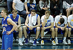 SIOUX FALLS, SD - MARCH 9:  Players on the Briar Cliff bench react as the end of their loss to IU East at the 2018 NAIA DII Men's Basketball Championship at the Sanford Pentagon in Sioux Falls. (Photo by Dick Carlson/Inertia)