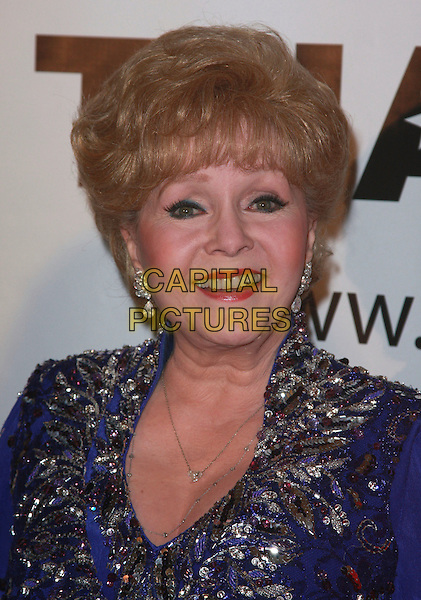 DEBBIE REYNOLDS.Thalians 52nd Anniversary Gala honoring Sir Roger Moore aka James Bond held at the Beverly Hilton Hotel, Beverly Hills, California, USA..October 21st, 2007.headshot portrait .CAP/ADM/CH.©Charles Harris/AdMedia/Capital Pictures.
