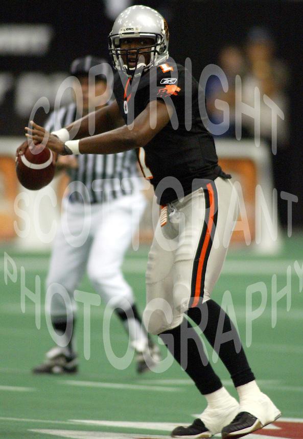 Casey Printers BC Lions quarterback. Copyright photograph Scott Grant