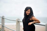 Pictured: Parmi Dheensa at Caswell Bay near Swansea, Wales, UK. Friday 04 August 2017<br /> Re: Parmi Dheensa who founded black and minority ethnic charity, Include Me Too to help BME parents of children with autism and leaning disabilities.