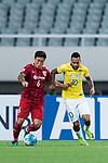 Jiangsu FC Forward Alex Teixeira (R) fights for the ball with Shanghai FC Midfielder Cai Huikang (L) during the AFC Champions League 2017 Round of 16 match between Shanghai SIPG FC (CHN) vs Jiangsu FC (CHN) at the Shanghai Stadium on 24 May 2017 in Shanghai, China. Photo by Marcio Rodrigo Machado / Power Sport Images
