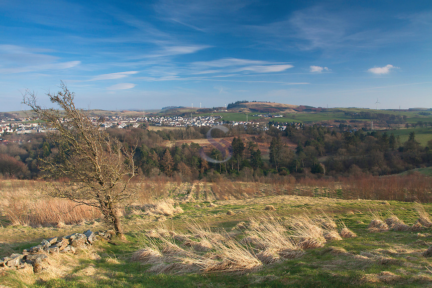 Neilston and Neilston Pad from the Lochboilside Hills, Neilston, East Renfrewshire