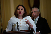 United States Senator Tammy Duckworth (Democrat of Illinois) speaks during the Senate Policy Luncheon Press Conference on Capitol Hill in Washington D.C., U.S. on October 22, 2019.<br /> <br /> Credit: Stefani Reynolds / CNP