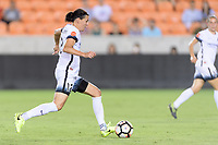 Houston, TX - Saturday July 08, 2017: Christine Sinclair brings the ball up the field during a regular season National Women's Soccer League (NWSL) match between the Houston Dash and the Portland Thorns FC at BBVA Compass Stadium.