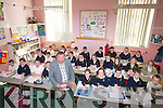 Michael O'Connor, Principal of Blennerville National in class on Monday with his pupils.