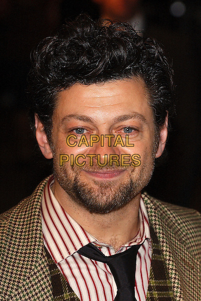 "ANDY SERKIS.Premiere of ""King Kong"", Odeon Leicester Square, London..December 8th, 2005.Ref: BEL.headshot portrait facial hair stubble beard.www.capitalpictures.com.sales@capitalpictures.com.© Capital Pictures."