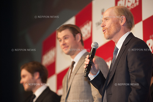 January 30, 2014 : Tokyo, Japan - Chris Hemsworth, Daniel Bruhl, and Ron Howard appear at the Japan Premiere for RUSH by Ron Howard in the Yurakucho Marion, Tokyo, Japan. (Photo by Yumeto Yamazaki/NipponNews)