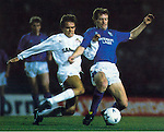 Jimmy Nicholl playing for Rangers at Ibrox in the UEFA Cup against Cologne