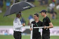 1st December 2019, Hamilton, New Zealand;  The rain comes down in Hamilton. International test match cricket, New Zealand versus England at Seddon Park, Hamilton, New Zealand. Sunday 1 December 2019.