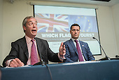 Nigel Farage and MEP Steven Woolfe. UKIP EU referendum press conference, London.